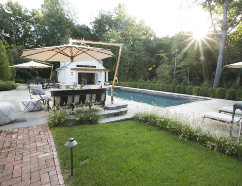 Pool, Patio, & Pool House in Newtown, CT